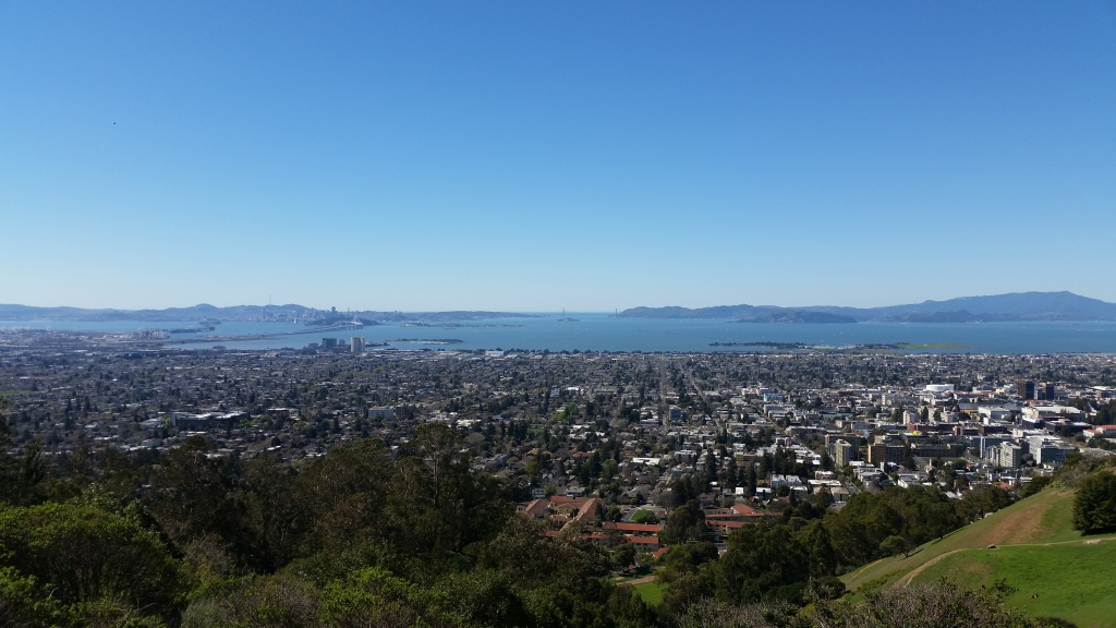 San Francisco Bay from Claremont Canyon in Berkeley, California