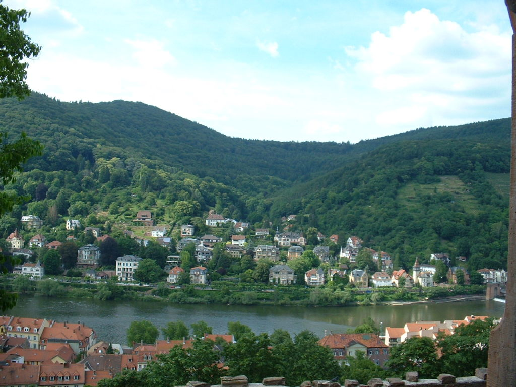 Across the River from Heidelberg Castle