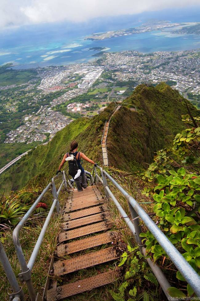Haiku Stairs on Oahu, Hawaii